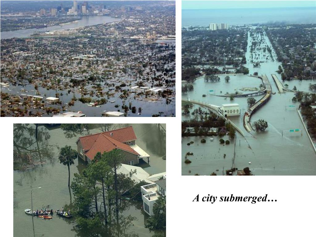 A city submerged…
