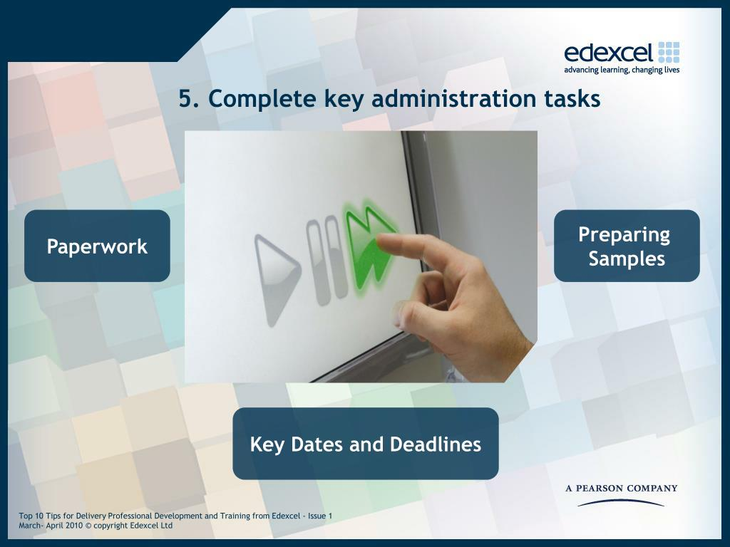 5. Complete key administration tasks