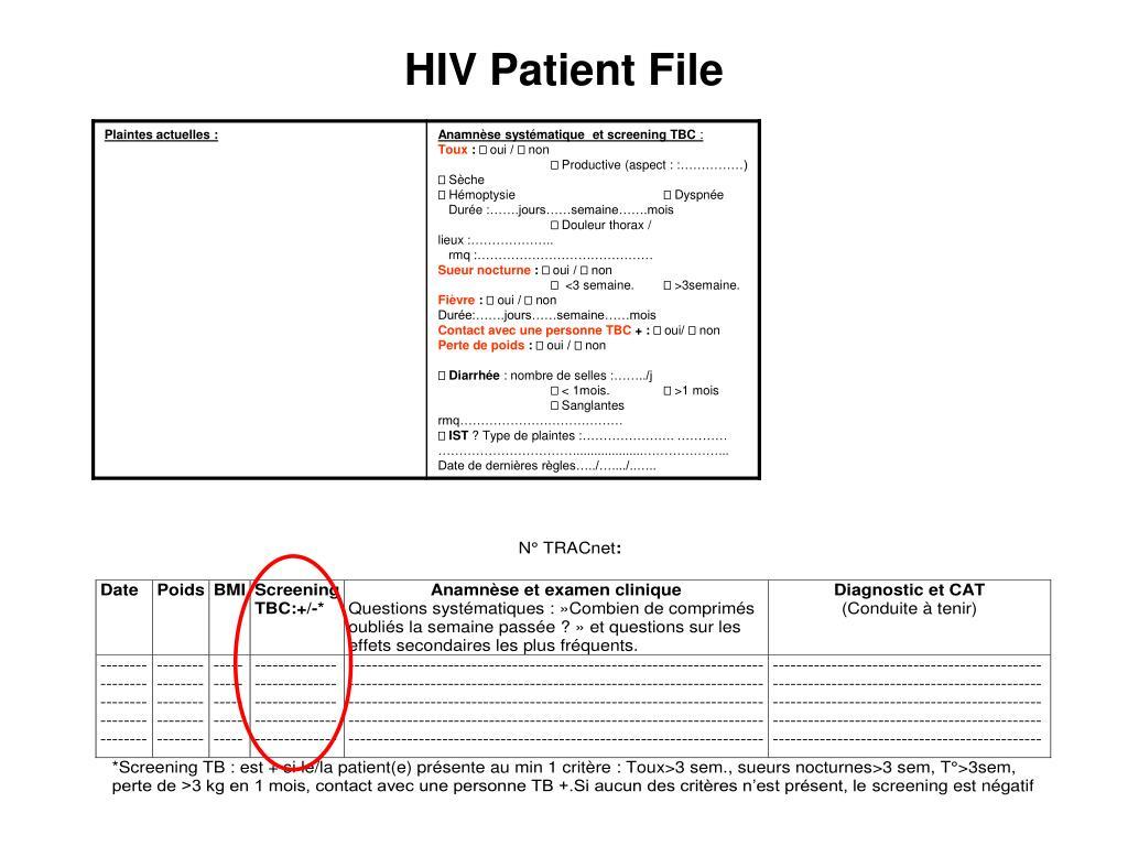 HIV Patient File