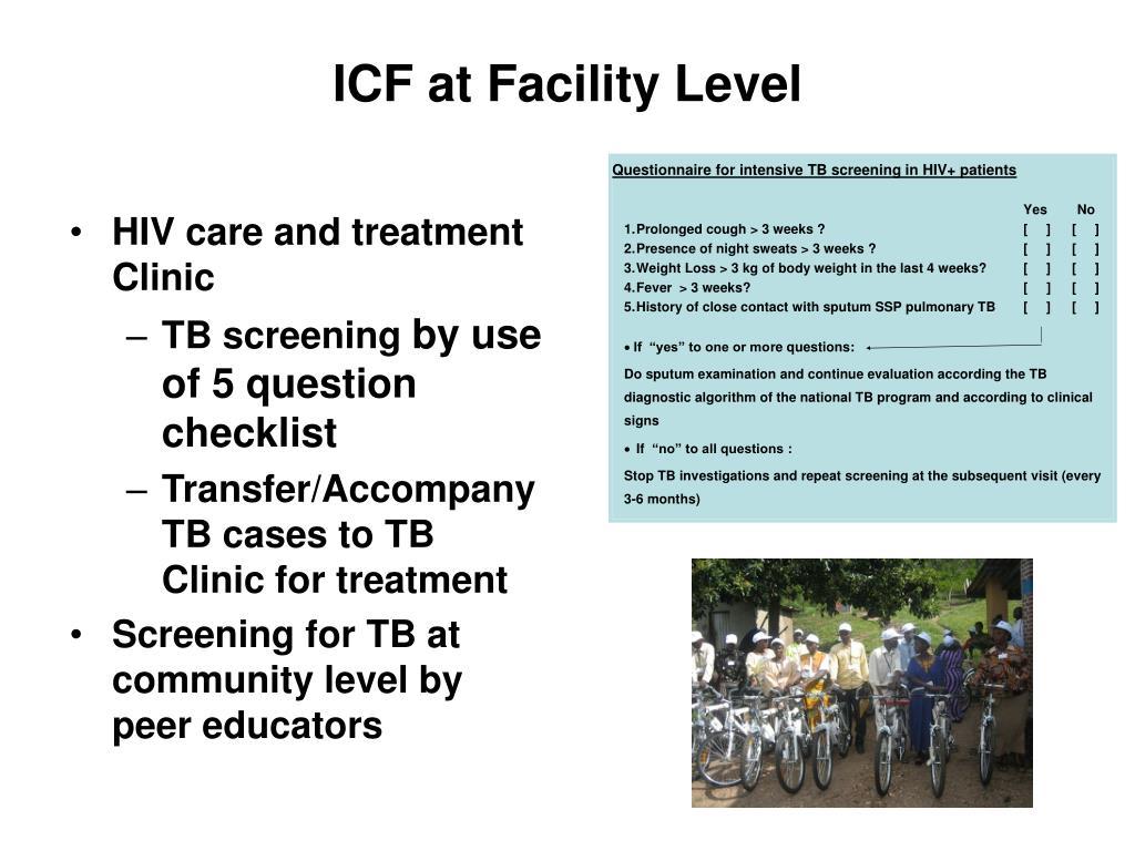 ICF at Facility Level