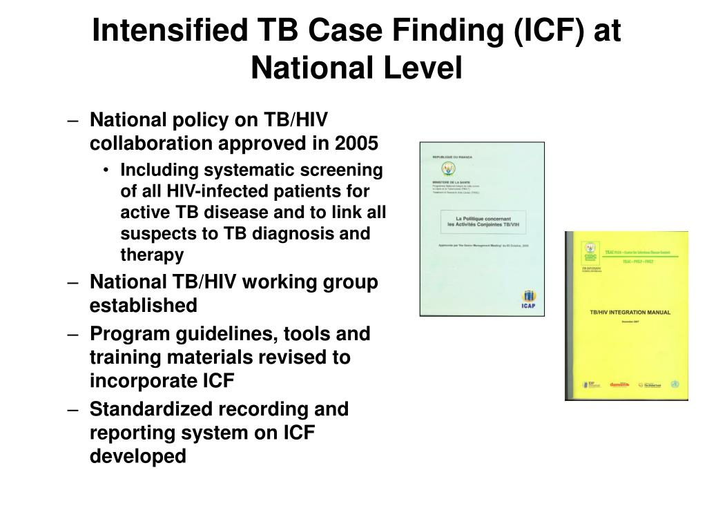 Intensified TB Case Finding (ICF) at National Level
