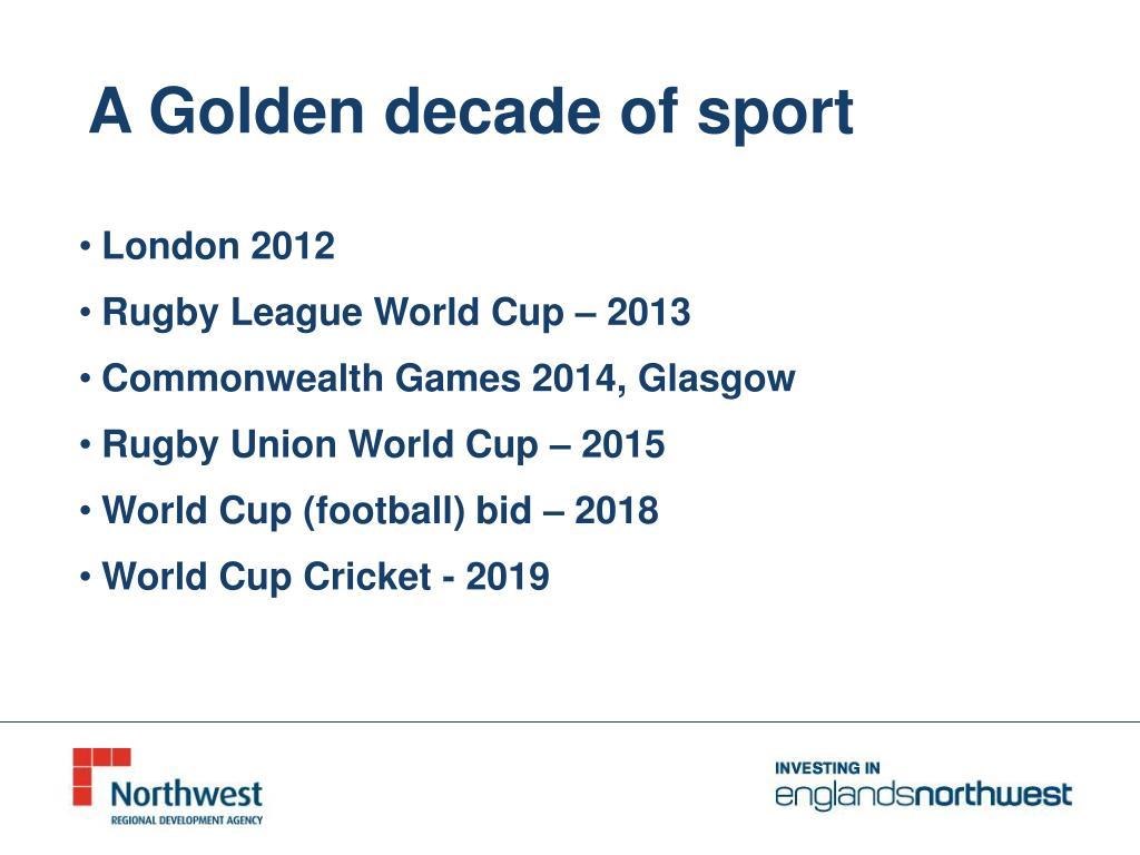 A Golden decade of sport