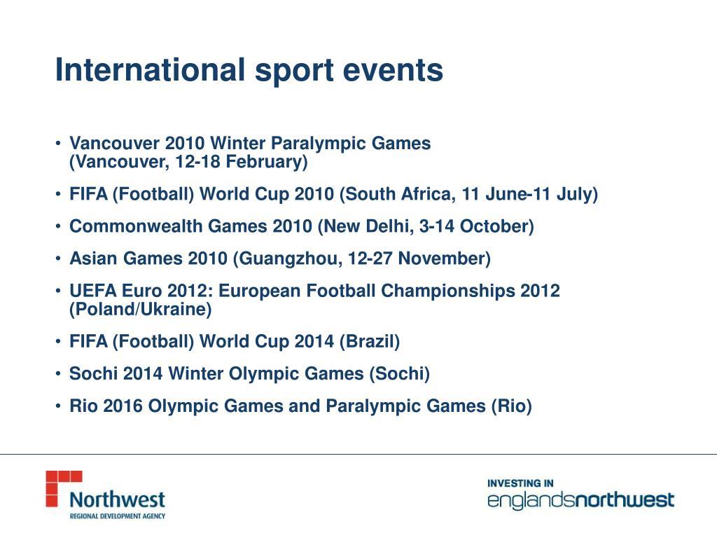 International sport events