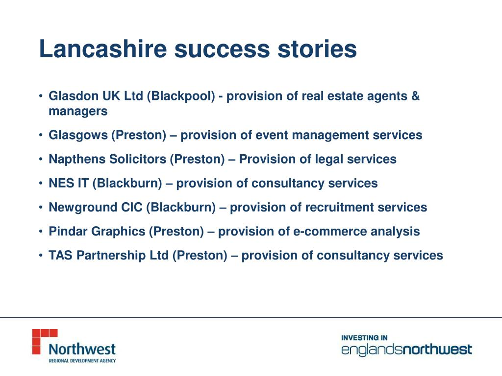 Lancashire success stories