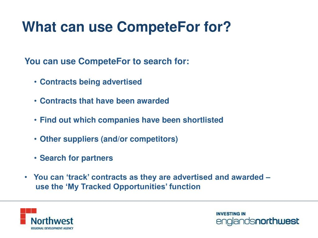 What can use CompeteFor for?