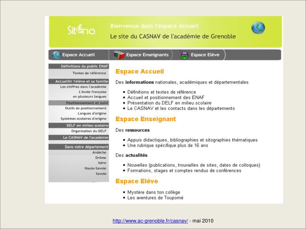 http://www.ac-grenoble.fr/casnav/