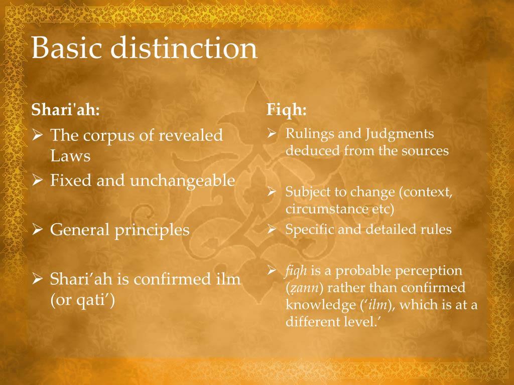Basic distinction