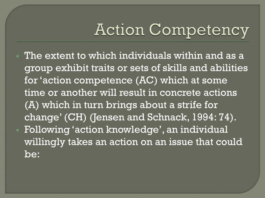 Action Competency