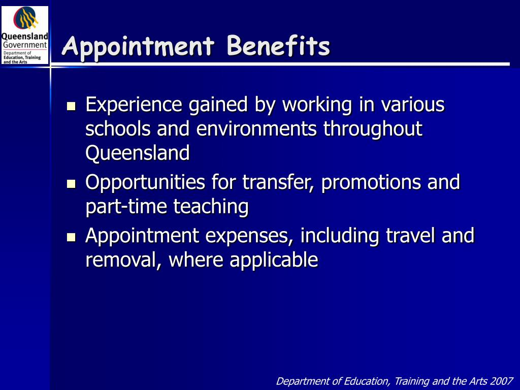 Appointment Benefits