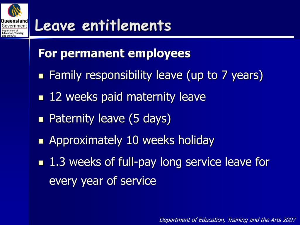 Leave entitlements