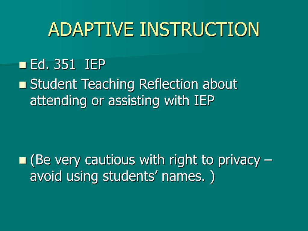 ADAPTIVE INSTRUCTION