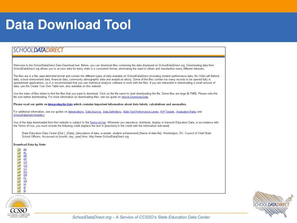 Data Download Tool