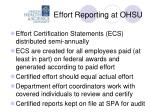 effort reporting at ohsu