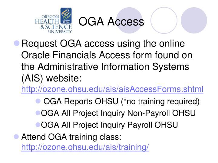 OGA Access