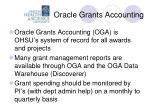 oracle grants accounting