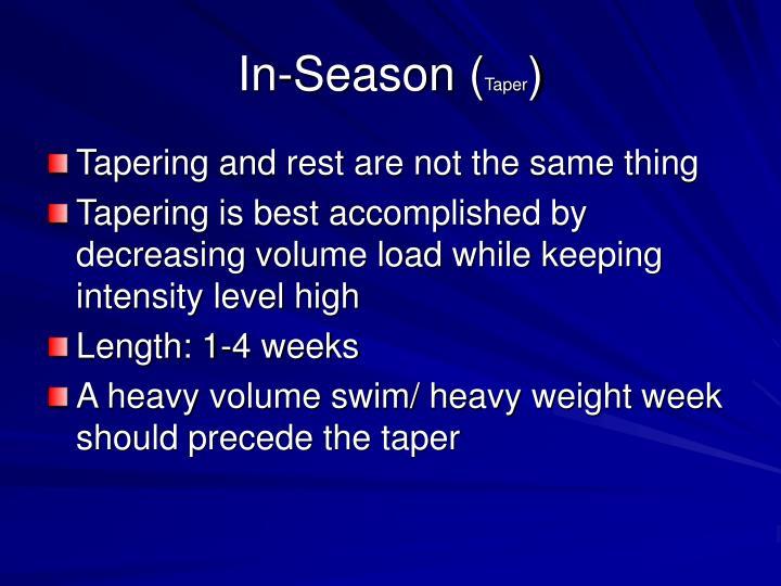 In-Season (