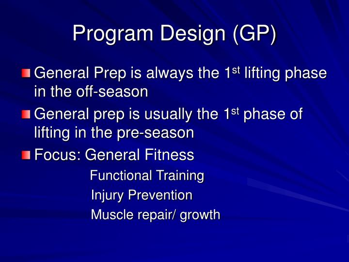Program design gp