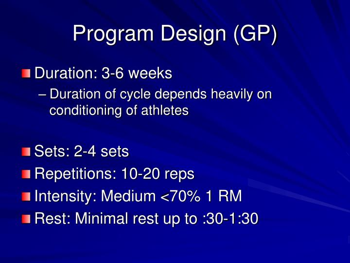 Program Design (GP)