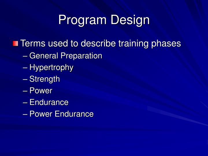 Program Design