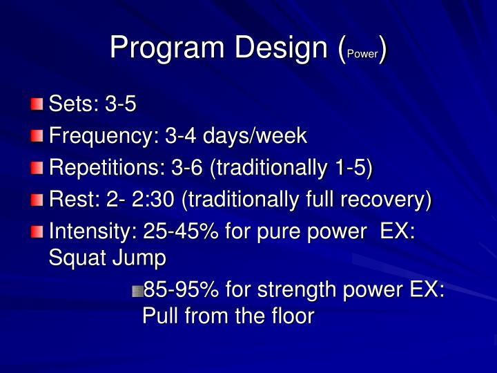 Program Design (