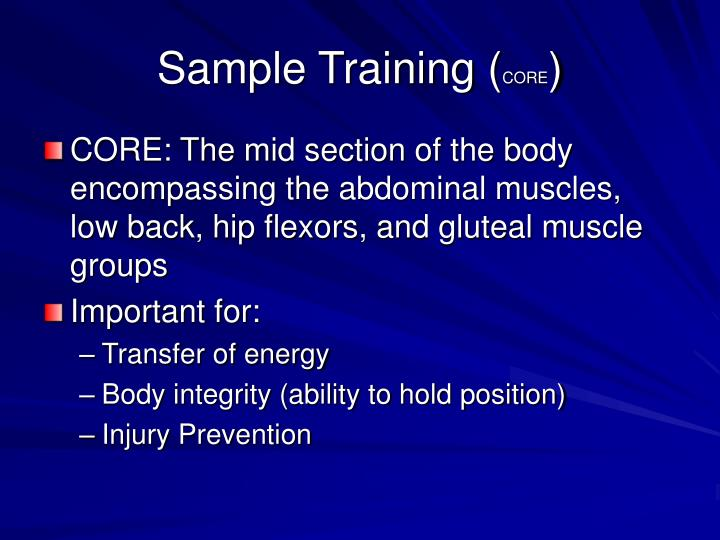 Sample Training (