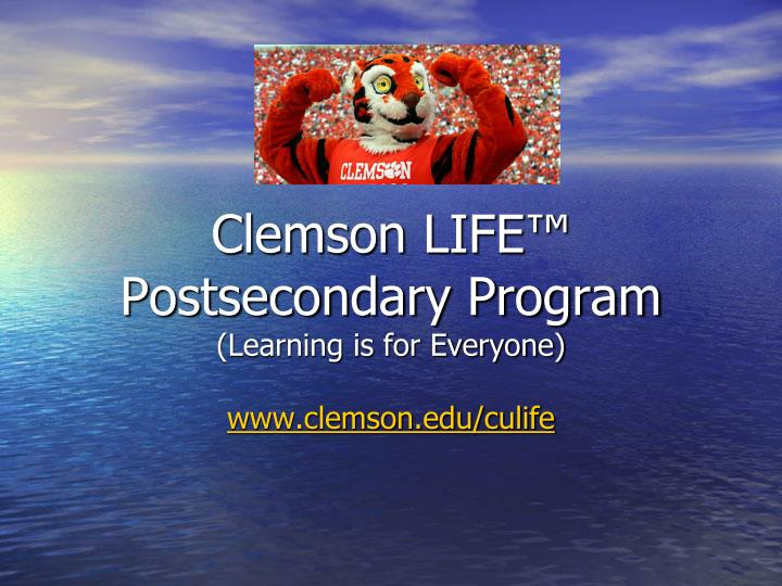Clemson LIFE™ Postsecondary Program