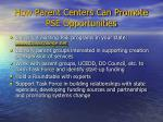 how parent centers can promote pse opportunities