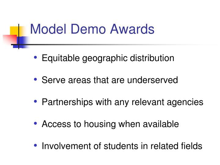 Model Demo Awards
