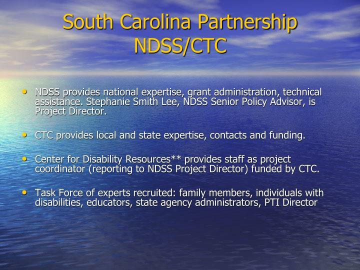 South Carolina Partnership NDSS/CTC