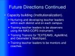 future directions continued