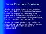 future directions continued1