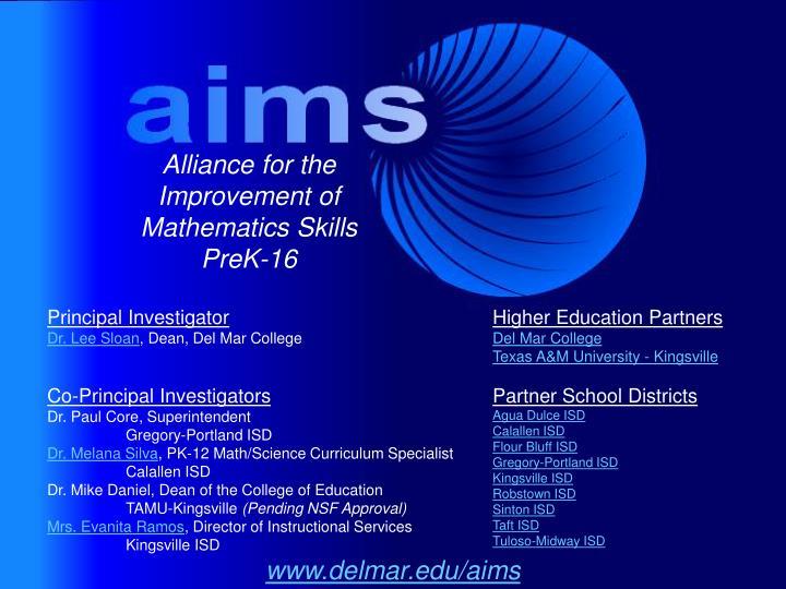 Alliance for the Improvement of Mathematics Skills