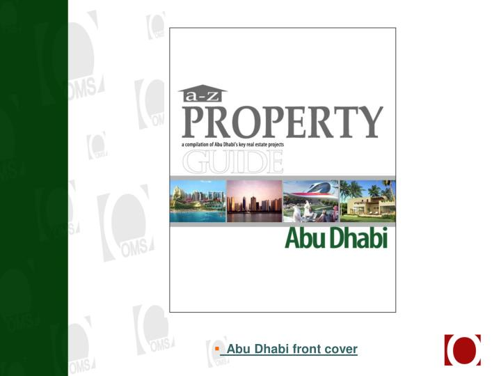 Abu Dhabi front cover