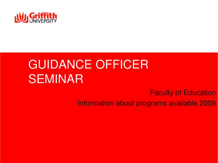 Guidance officer seminar