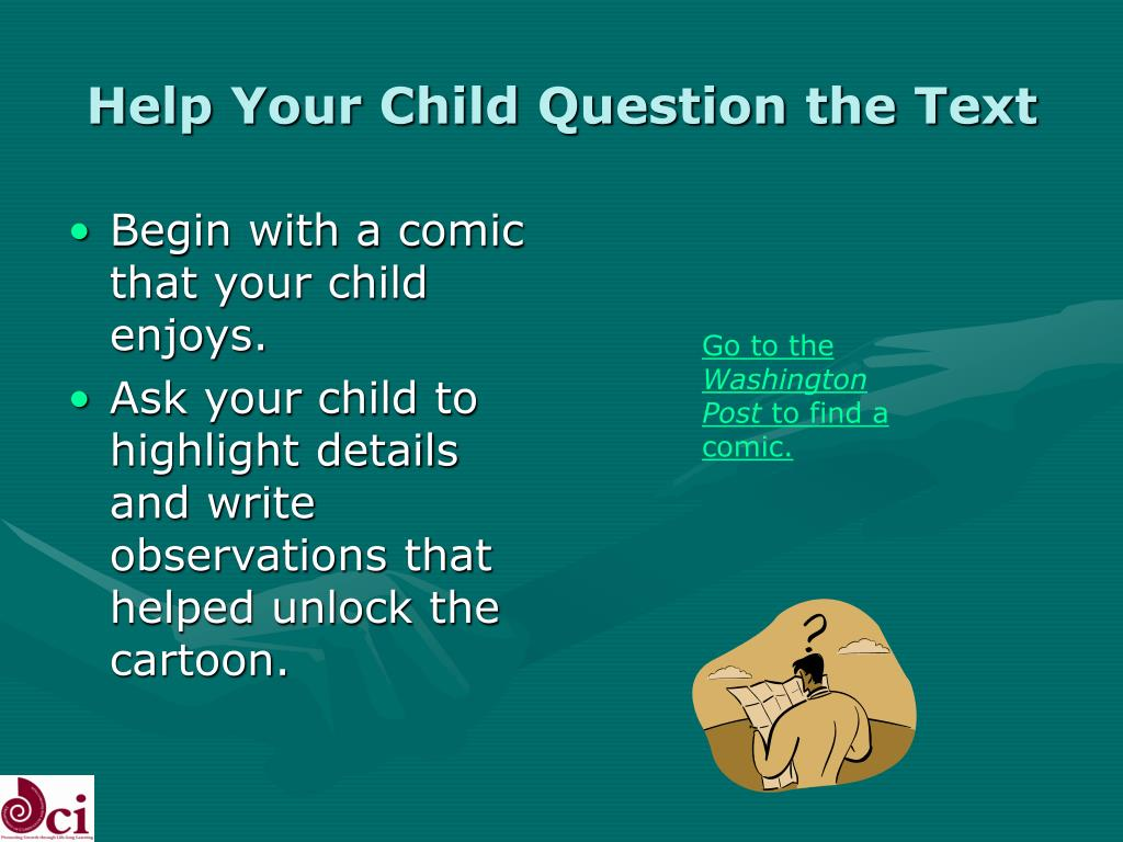 Help Your Child Question the Text