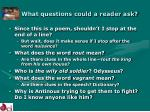 what questions could a reader ask17