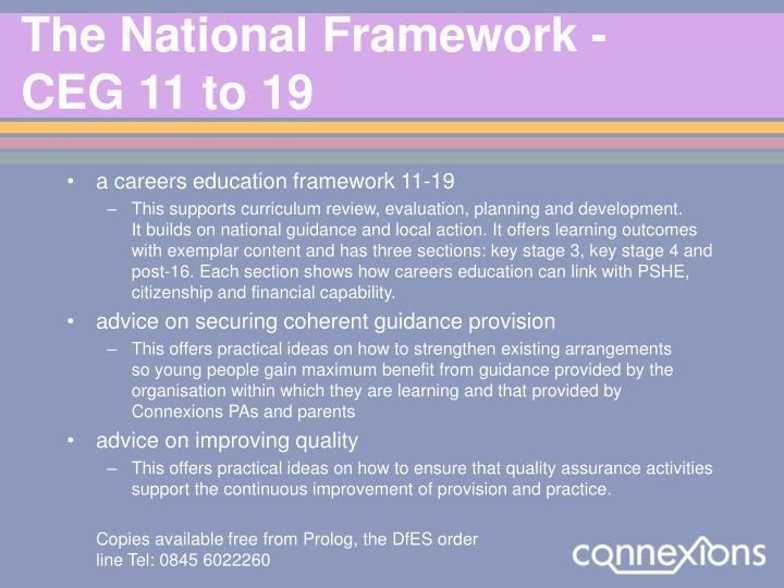 The National Framework -