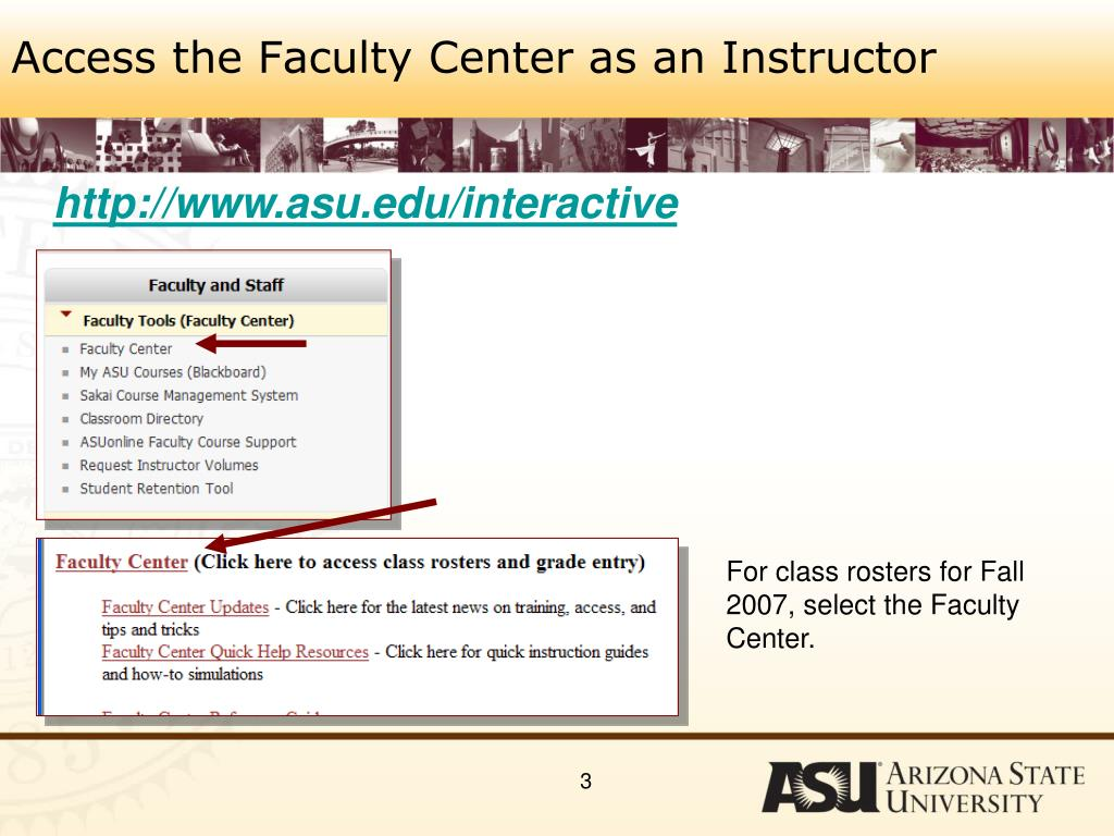 Access the Faculty Center as an Instructor