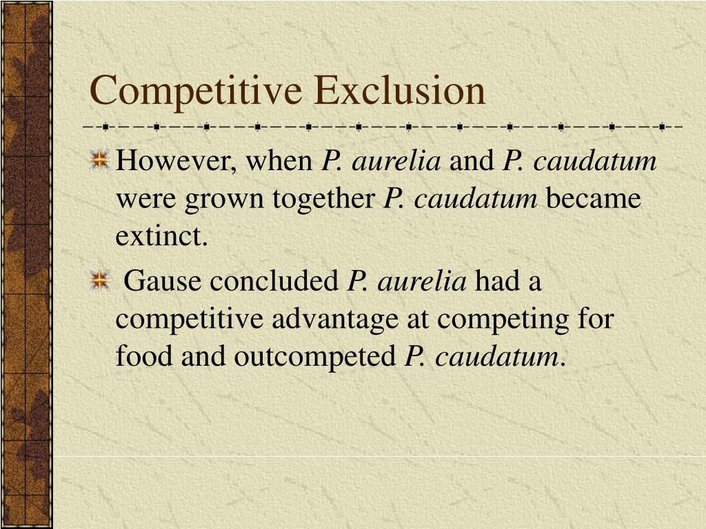 Competitive Exclusion