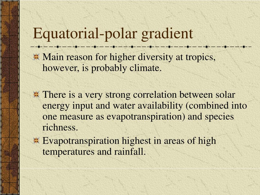 Equatorial-polar gradient