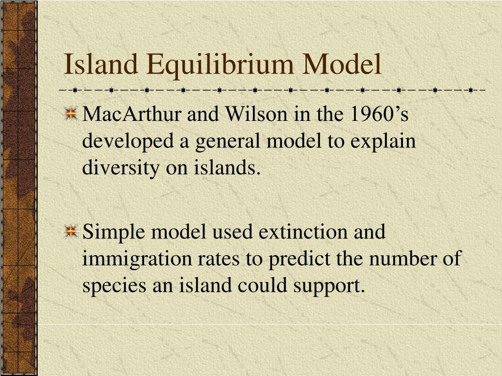 Island Equilibrium Model