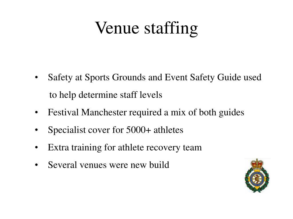 Venue staffing