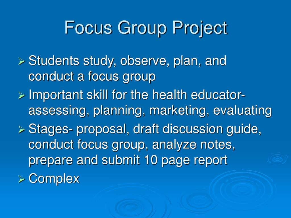 Focus Group Project
