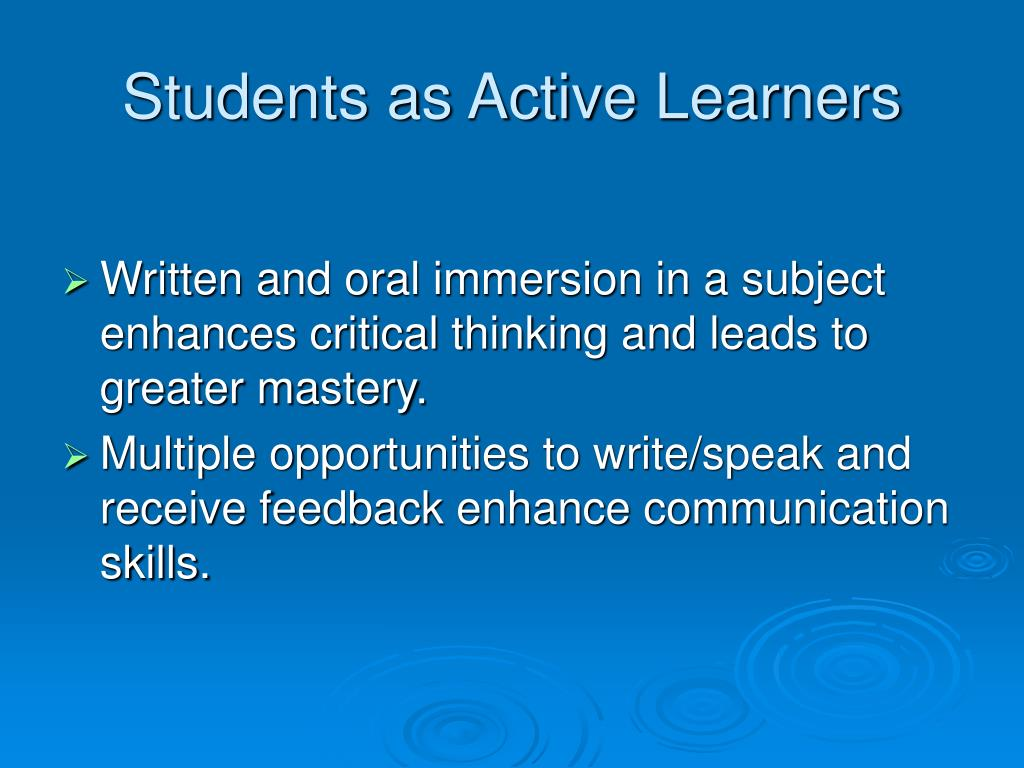 Students as Active Learners