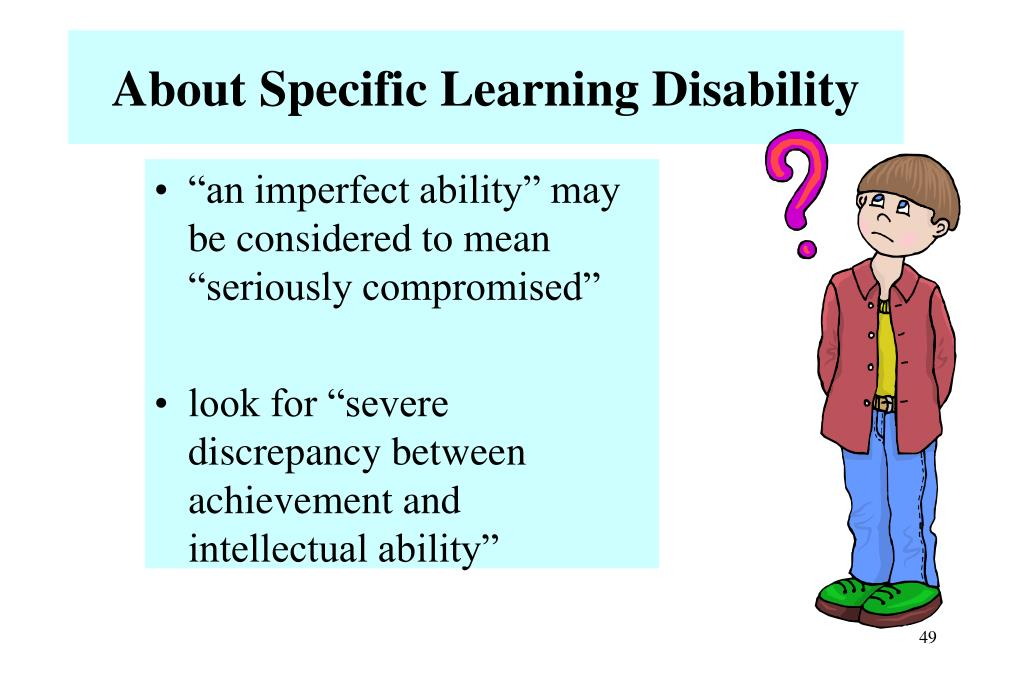 About Specific Learning Disability