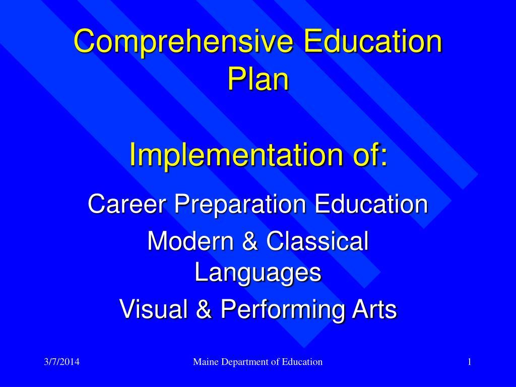 Comprehensive Education Plan