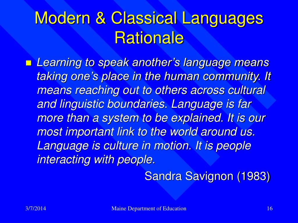 Modern & Classical Languages