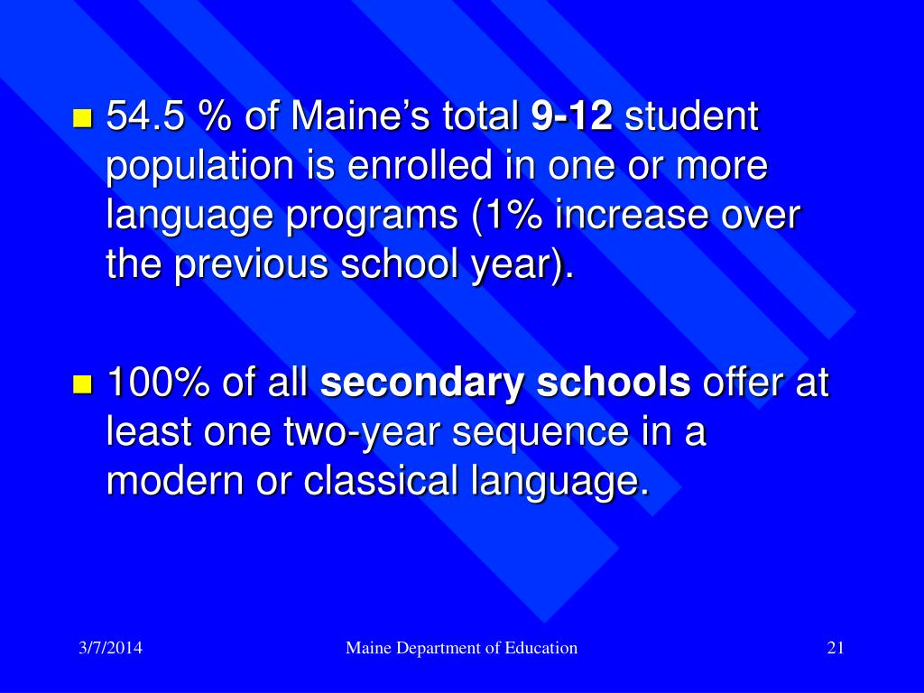 54.5 % of Maine's total