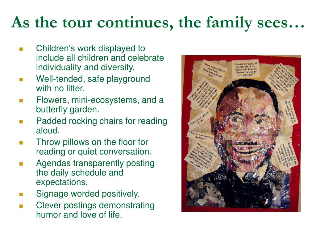 As the tour continues, the family sees…