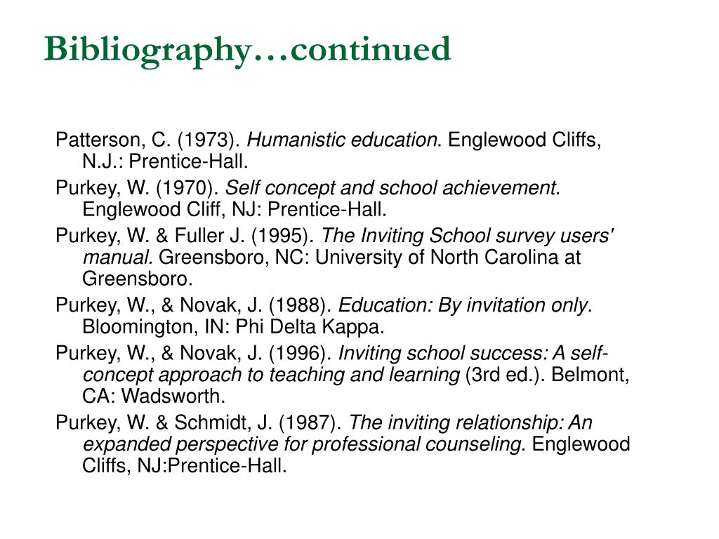 Bibliography…continued